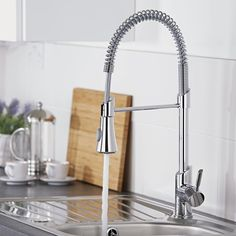 Chrome Pull-Down Spray Kitchen Tap - Image 4