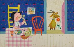 If you've never heard of Mary Blair, chances are you've seen her work. She created concept art for Disney during the among other illustrations. Art And Illustration, Illustrations And Posters, Children's Book Illustration, Vintage Illustrations, Mary Blair, Goat Art, Disney Artists, Children's Picture Books, Concept Art