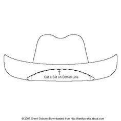 Kindergarten Printable hat templates | Print out and color or decorate this cowboy hat for your paper doll.
