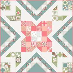 Rose in Bloom: Block of the Month by Lella Boutique Quilt Kits, Quilt Blocks, Bloom Book, Summer Quilts, Block Of The Month, Sewing Blogs, Love Notes, Autumn Theme, Quilt Top