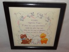 New Baby Prayer Christian Nursery Bless Me Lord Finished Cross Stitch U.S.A. in Crafts, Handcrafted & Finished Pieces, Needle Arts & Crafts | eBay
