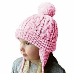 ae813cfa865 Amandir Kids Winter Hats Fleece Lined Knit Toddler Girls Beanie Baby  Confetti  Amandir