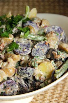 green bean and potato salad