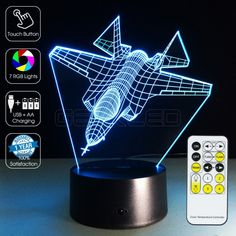 #3D Fighter Plane Optical #Lamp #GEEKLED
