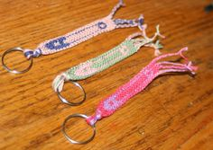 Pink Safety Pin Keychain Safety Pin by BarefootInspirations