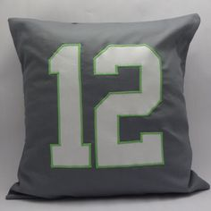 A personal favorite from my Etsy shop https://www.etsy.com/listing/219340037/seattle-seahawks-12th-man-pillow