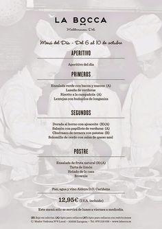 GASTRONOMÍA EN ZARAGOZA: Menú del Día en el Restaurante La Bocca.
