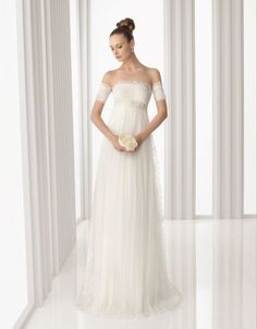 Vestido de noiva Rosa Clara para grávidas #casarcomgosto