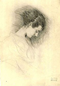 drawing by Gustav Klimt