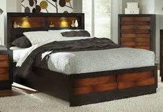 Image result for headboard with recessed shelf