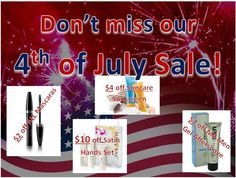 4th of July Savings at www.marykay.com/tlovepringle
