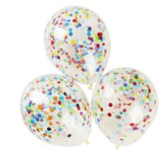 Three clear latex balloons filled with confetti. Fill with air using a balloon pump. Rub the balloon with your hand to create static then roll the confetti around inside the balloon for the static to take effect. Online Party Supplies, Kids Party Supplies, Balloon Pump, The Balloon, Happy Birthday, Birthday Parties, Birthday Ideas, Christmas Birthday, 7th Birthday