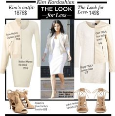 """Look for Less-Kim Kardashian"" by kusja on Polyvore"