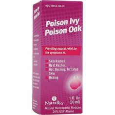 NatraBio Poison Ivy Poison Oak, 1 Fl Oz, Multicolor