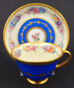 Darling Antique Dresden Demitasse Cup & Saucer