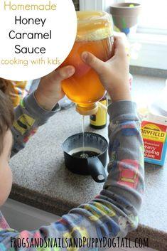 Homemade Honey Caramel Sauce Cooking with Kids