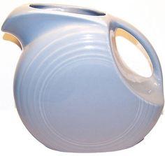FIESTA Ware PERIWINKLE Blue China PITCHER 64 oz Art Deco Homer Laughlin