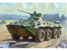The Zvezda 1/35 BTR-80A Russian APC plastic model accurately recreates the real…