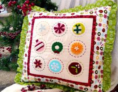 Ameroonie Designs: Jolly Holiday Pillow