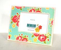 4 x 6 Picture Frame  Large Chevron Picture Frames  Teal by Mmim, $22.00