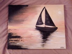 Acrylic Boat Painting by AmaraBeauty on Etsy, $45.00