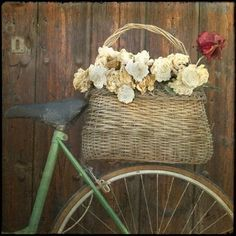 Items similar to France Photography - Provence Photograph - bicycle Photo white red roses basket - Bike Picture Neutral colors Wall Decor on Etsy Bicycle Basket, Old Bicycle, Bicycle Decor, Retro Bicycle, Bicycle Art, Old Baskets, Bike Baskets, Woven Baskets, France Photography