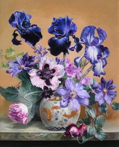 Bennett Oates  (Беннетт Оутс, British, 1928-2009) | Cedric Morris poppy and irises, sold