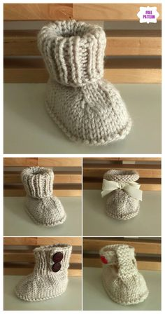 55652d7f841 Knit Seamless Baby Booties Free Knitting Pattern. Crochet Cocoon ...