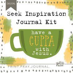 Seek Inspiration Journal Kit | Bible Journaling Printable Ephemera by Illustrated Faith Bible Journal, Journal Cards, Hand Lettering 101, Bible Activities, Illustrated Faith, Ephemera, Pray, Journaling, Workshop