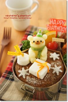 potato white bear bento