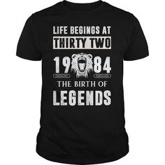 Life Begins at Thirty Two The Birth Of Legends T-Shirts, Hoodies (22.99$ ==► Order Here!)