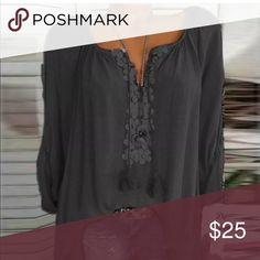 39073acf57b Size 18 tunic Boho chic long sleeve v-neck Plus size woman Boho long sleeve