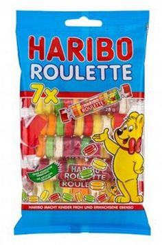 Haribo Roulette x 5 Bags Candy Sweets Candy Drawing, Food Drawing, Candy Store Display, Haribo Sweets, Jolly Rancher Hard Candy, Sour Belts, Candy Party, Pinata Candy, Rainbow Candy