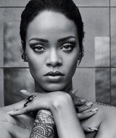Rihanna close-up on T Magazine Style fall 2015 Photoshoot