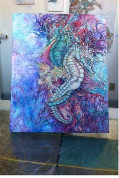 Work in progress for commission #seahorses