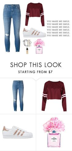 """Template 1"" by lilyismyname-13 ❤ liked on Polyvore featuring J Brand, adidas Originals, Chanel and Givenchy"