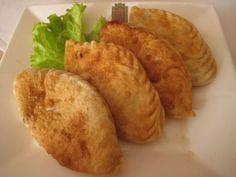 Khuushuur (deep fried 'dumplings' or 'pockets' with meat)