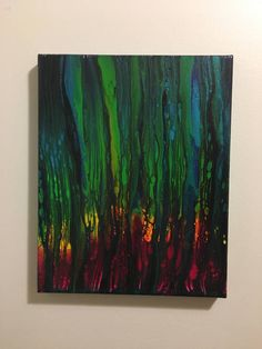 Forest Fire Abstract Acrylic Fluid Art Flow Art Painting