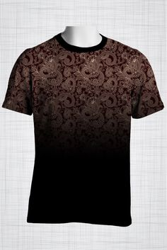 Plus Size Men's Clothing Cream on maroon paisley print FF0474 #plussizemensclothing