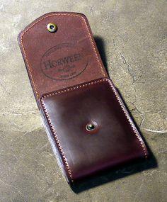 Burgundy Cabrio Horween Leather Wallet от NormCahnLeatherworks