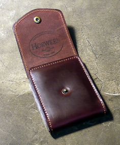 Burgundy Cabrio Horween Leather Wallet by NormCahnLeatherworks