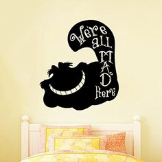 Wall Decal Vinyl Sticker Cheshire Cat Alice in Wonderland Fairytale Story V195 CreativeWallDecals http://www.amazon.com/dp/B00W3BUFOA/ref=cm_sw_r_pi_dp_6kSlvb1EHTQAT