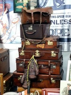 I love love love old suitcases...I use them as a nightstand in my bedroom, for storage