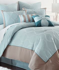 This Blue St. Tropez Comforter Set is perfect! #zulilyfinds