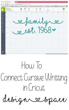 How to Connect Cursive Lettering in Cricut Design Space