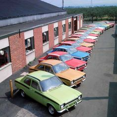 Ford Escort Mexico& rowed up outside Advanced Vehicle Operations ( AVO ) - - Escort Mk1, Ford Escort, Ford Rs, Car Ford, Ford Motorsport, Cars Uk, British Sports Cars, Ford Classic Cars, Old Fords