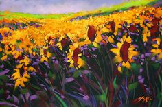 Michael McKee Gallery Flowers of the sun sunflower painting