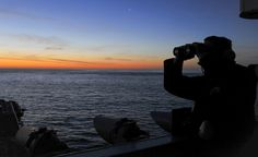 PACIFIC OCEAN (May 1, 2014) Seaman Thomas Irwin, from Toledo, Ohio, stands watch aboard the aircraft carrier USS Nimitz (CVN 68). Nimitz is currently underway to perform flight deck certifications. (U.S. Navy photo by Mass Communication Specialist 3rd Class Eric M. Butler/Released)