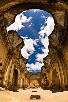 The ruins of a cathedral in Guatamala...so beautiful!!