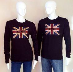On SALE while supplies last now just $49! http://icjuk.com/product/icjuk-leopard-jack-leopard-print-union-jack-black-long-sleeve-shirt/